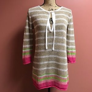 Tommy Bahama Open Weave Tunic Top/ Swimsuit Cover